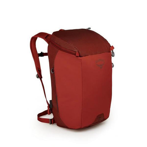 Osprey Transporter 30 Litre Zip Top Commute Daypack with Lap Top Sleeve Ruffian Red