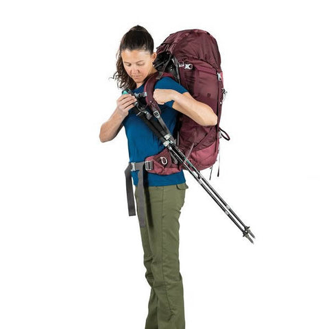 Osprey Viva 65 Litre women's hiking backpack stow on the go trekking pole attachment loop