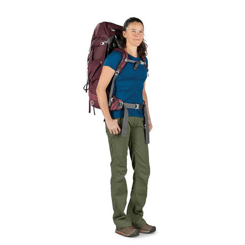 Osprey Viva 65 Litre women's hiking backpack in use front view