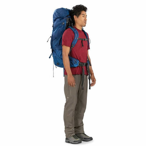 Osprey Volt 75 Litre Men's Hiking Mountaineering Backpack in use side view