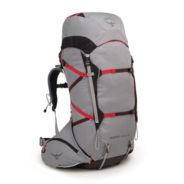 Osprey Aether 70 Pro Kepler Grey Front View