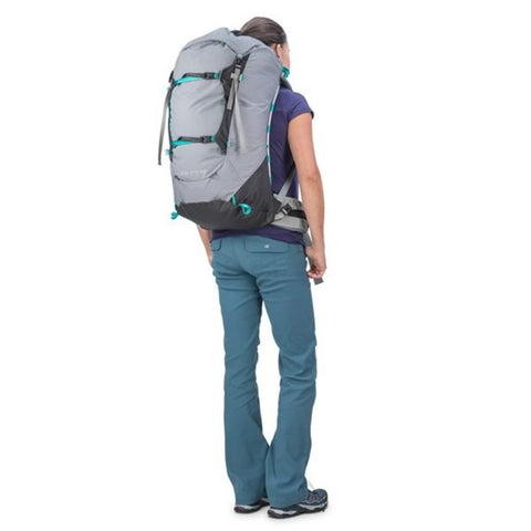 Osprey Ariel Pro 65 Litre Women's Backpack Voyager Grey in use