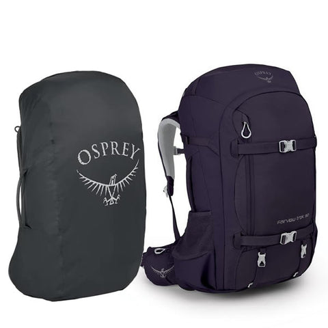 Osprey Fairview Trek Backpack 50 Litre Women's Specific Hiking and Travel Pack With Free Airport Cover/Raincover