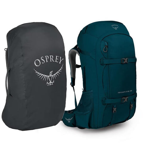 Osprey Farpoint Trek 55 Litre Trek and Travel Backpack petrol blue with free aircover