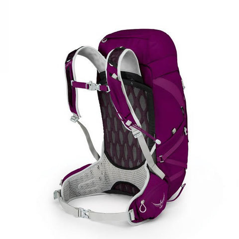 Osprey Tempest Women's 30 Litre Overnight Backpack / Daypack with free Raincover Mystic Magenta