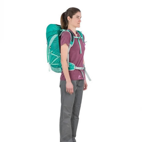 Osprey Tempest Women's 30 Litre Overnight Backpack / Daypack in use front view