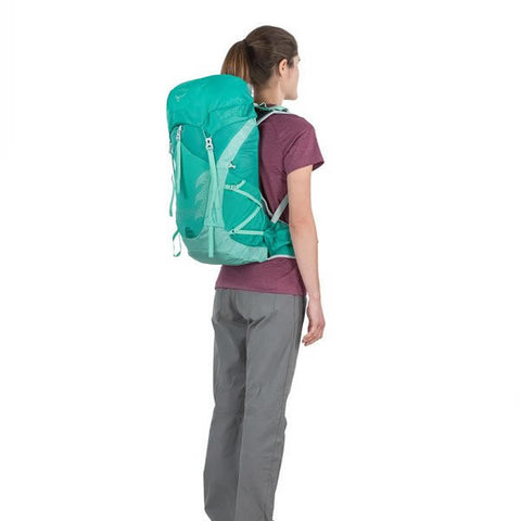 Osprey Tempest Women's 30 Litre Overnight Backpack / Daypack in use rear view