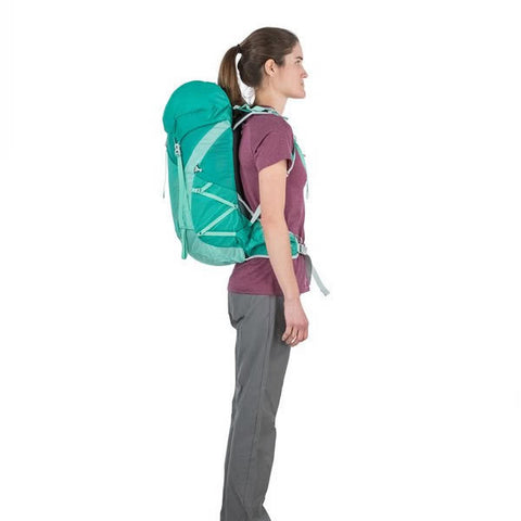 Osprey Tempest Women's 30 Litre Overnight Backpack / Daypack in use side view