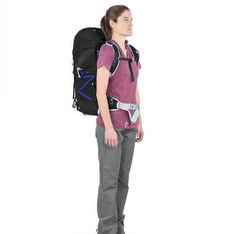 Osprey Tempest Women's 40 Litre Light Backpacking / Overnight Backpack in use front view