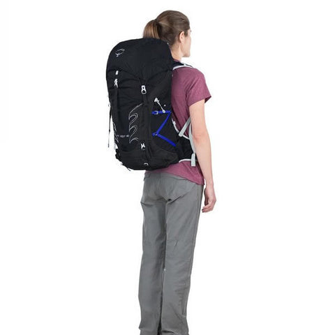 Osprey Tempest Women's 40 Litre Light Backpacking / Overnight Backpack in use rear view