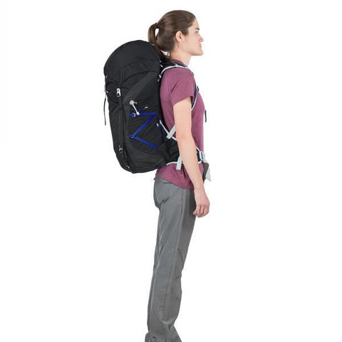 Osprey Tempest Women's 40 Litre Light Backpacking / Overnight Backpack in use side view