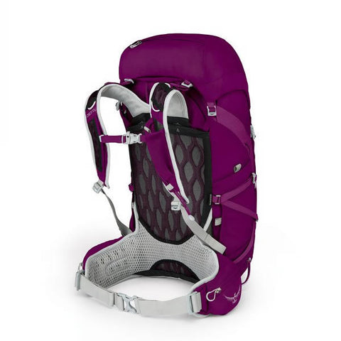 Osprey Tempest Women's 40 Litre Light Backpacking / Overnight Backpack mystic magenta carry harness