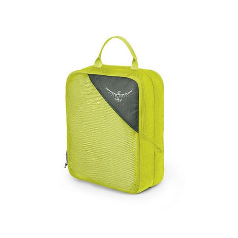 Osprey ultralight double sided packing cube clean dirty electric lime medium