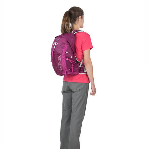 Osprey Tempest Women's 20 Litre Daypack in use rear view