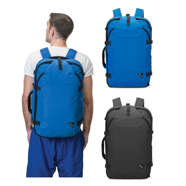 710167ec5c Pacsafe Venturesafe EXP45 Anti-theft Carry on 45 litre travel backpack two  colours in use ...