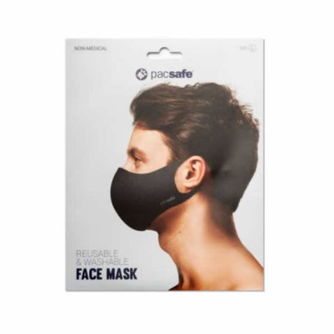 Pacsafe Viraloff Face Mask Packaging Large Black