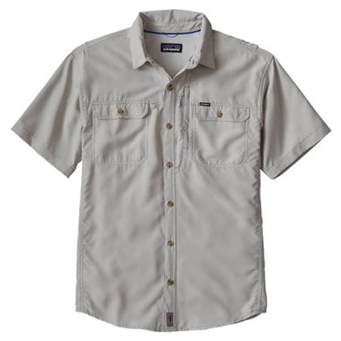 Patagonia Men's Short Sleeve Sol Patrol II Travel Shirt, 30 UPF tailored grey