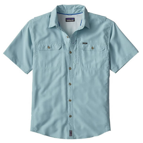 Patagonia Men's Short Sleeve Sol Patrol II Travel Shirt, 30 UPF tubular blue