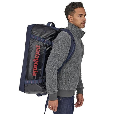 Patagonia Black Hole Duffle Bag 70 Litres in use on back