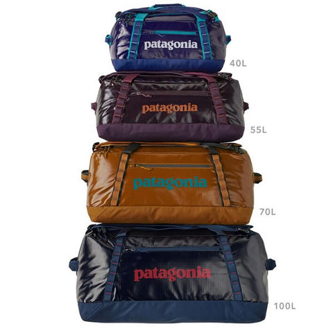 Patagonia Black Hole Duffles sizes