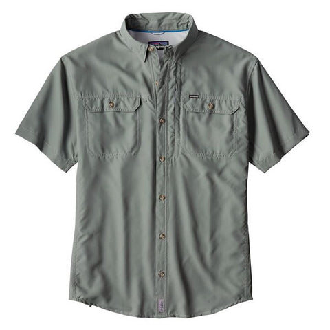 Patagonia Men's Sol Patrol II short sleeve fishing and travel shirt hemlock green