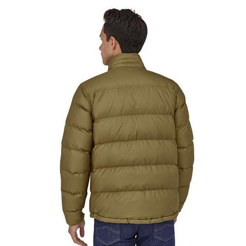 Patagonia Men's Tres 3 in 1 Down Parka rear view down liner in use
