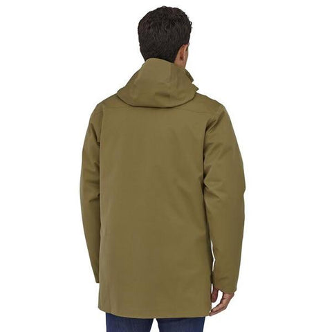 Patagonia Men's Tres 3 in 1 Down Parka rear view in use