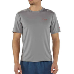 Patagonia Men's RO Sun Tee 50 UPF Tee Shirt front view in use