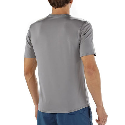 Patagonia Men's RO Sun Tee 50 UPF Tee Shirt rear view in use