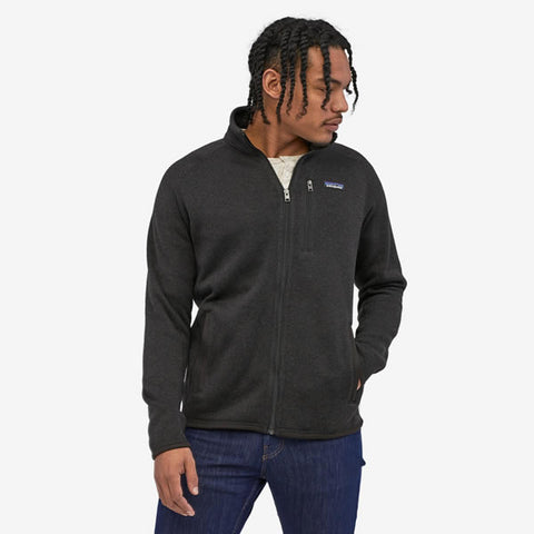 Patagonia Men's Better Sweater Fleece Jacket Black in use front view