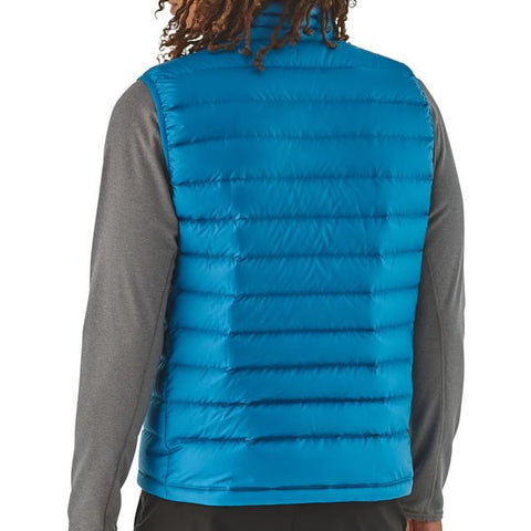 Patagonia Men's Down Sweater Vest in use rear view