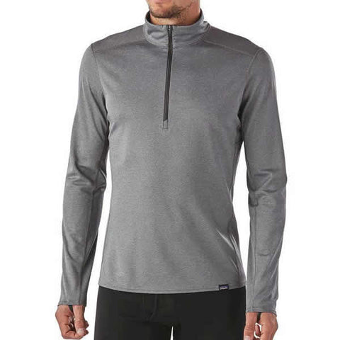 Patagonia Men's Capilene Midweight Zip-Neck Thermal Top in use front view