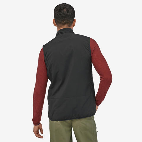 Patagonia Men's Nano Air Vest in use front view black