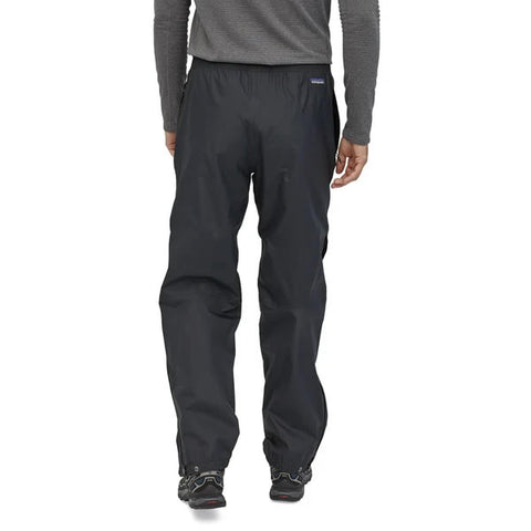 Patagonia Men's Torrentshell 3 Layer Waterproof Windproof Overpants rear view in use
