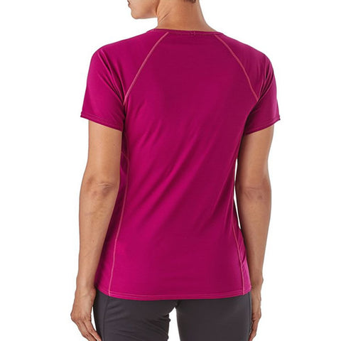 Patagonia Womens Capilene Lightweight T-Shirt rear view in use
