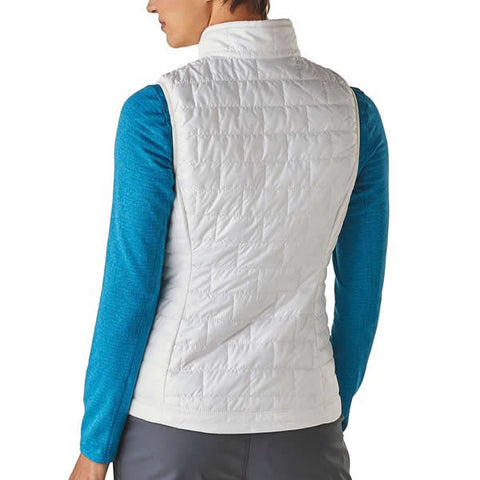 Patagonia Women's Nano Puff Vest in use rear view