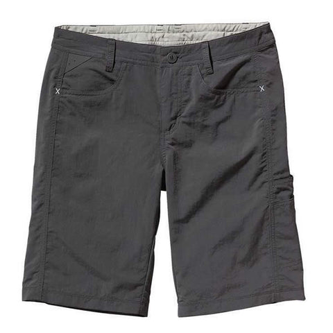 Patagonia Womens Away from Home Lightweight Quick Dry Travel Shorts forge grey
