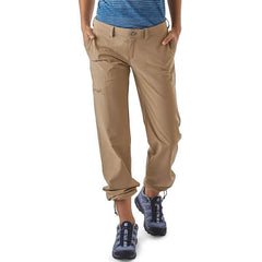 Patagonia Women's Happy Hike Pants Lightweight Quick Dry Hike and Travel Pants in use cuffs up