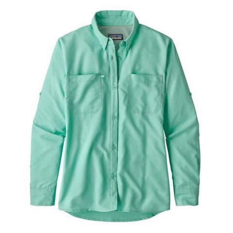 Patagonia Women's Long Sleeve Sol Patrol Lightweight Quick Dry Travel Shirt 30 UPF