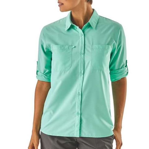 Patagonia Womens Sol Patrol Shirt in use front view