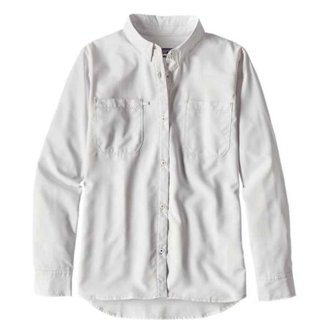 Patagonia Womens Sol Patrol Long Sleeve Shirt white