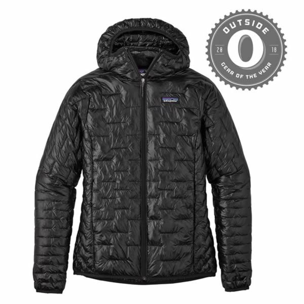 Patagonia Women's Micro Puff Hoody Outside Gear of the Year Winner Black
