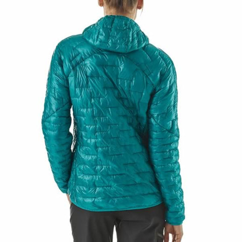 Patagonia Women's Micro Puff Hoody Synthetic Insulated Jacket Rear View