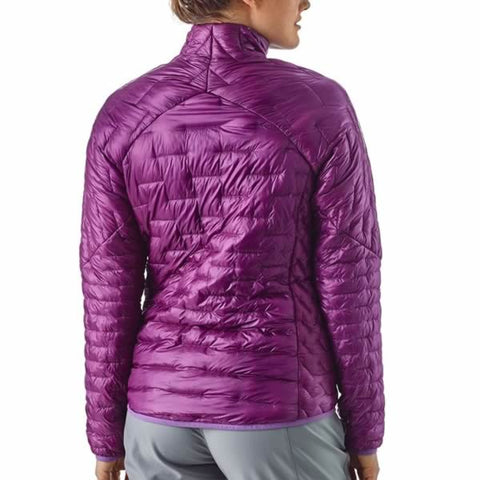 Patagonia Womens Micro Puff Insulated Jacket in use front view
