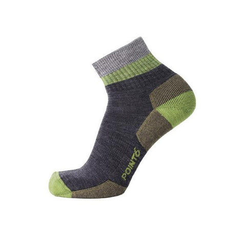 Point6 37.5 Hiking Block Stripe Light Mini Crew Grey