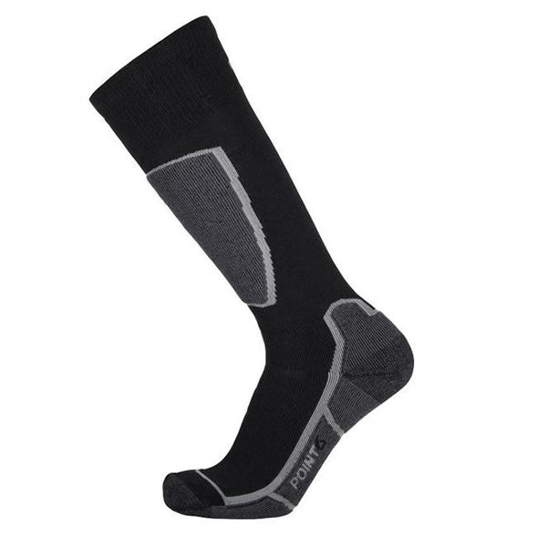 Point6 Ski Medium OTC Merino Sock Black