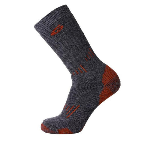 Point6 Hiking Expedition Extra Heavy Duty Mid-Calf Merino Sock Grey Red