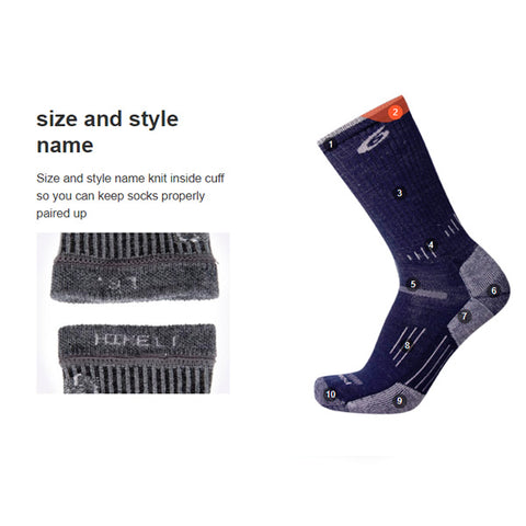 Point6 Sock Features size and style name