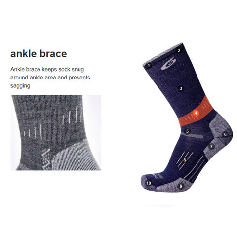 Point6 Sock Features ankle brace