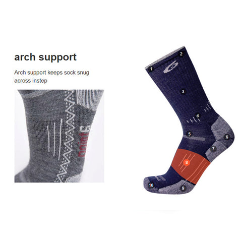 Point6 Sock Features arch support